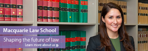 Law - Homepage Banner Macquarie Law School